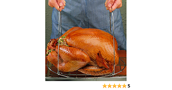 Chrome Nifty Home Products Gourmet Turkey Lifter
