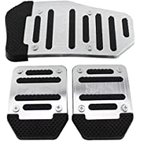 Black BOYUER 2PCS Anti-Slip No Drilling Aluminum Brake Gas Pedal Pad Cover For BMW 1 2 3 4 5 6 7Series X3 X4 X5 X6 X7,F20 F21 F22 F23 G30G31 F30F31 G20 G21 F12 G32 G11 G12 F25 G01 F26 G02 F15 G05 G07