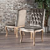 Cello Grey Velvet Dining Chairs (Set of 2) For Sale