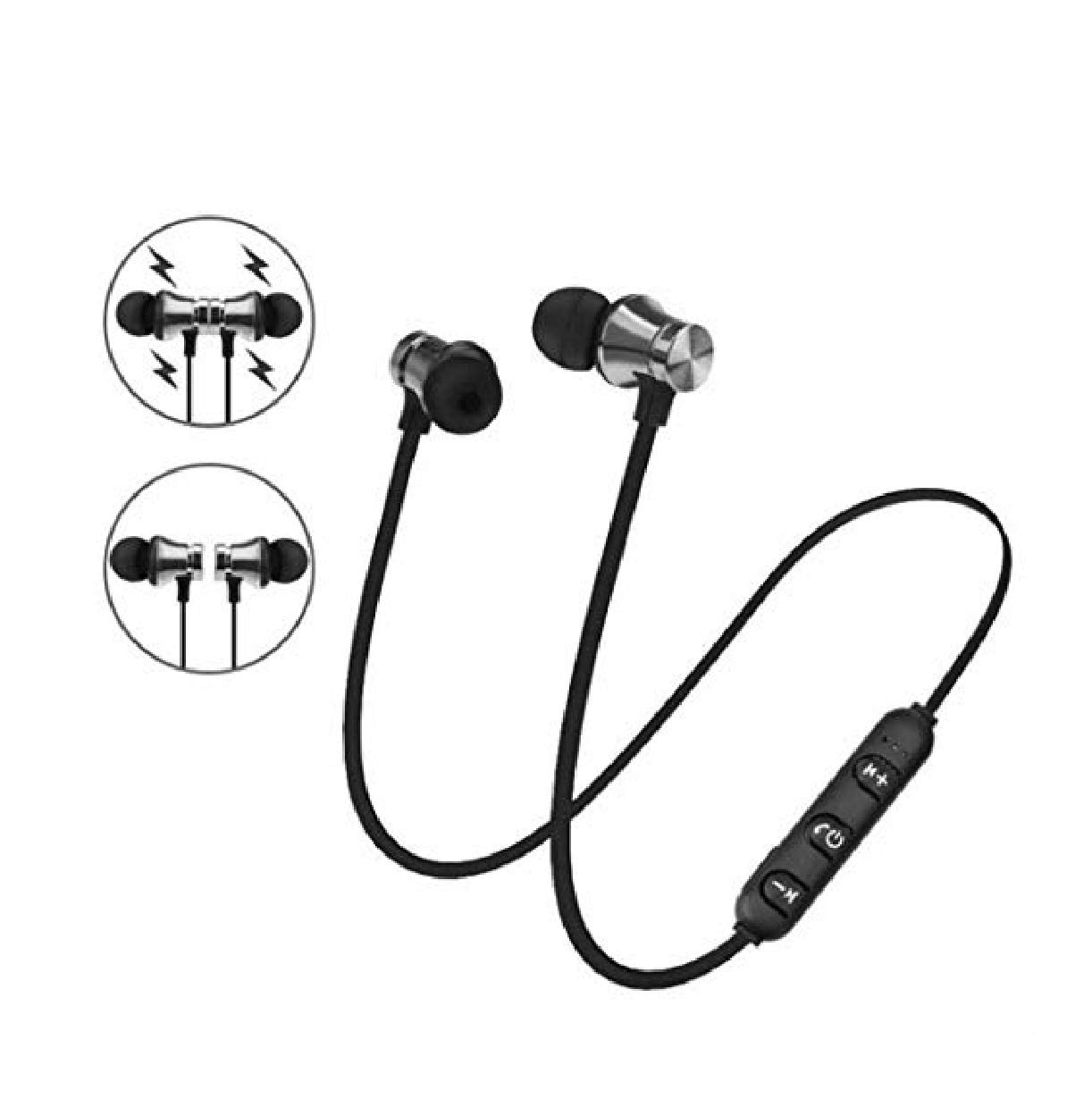 Lanbter Bluetooth Headphones,Qualteus Magnetic Wireless Earbuds, 4.1,8H HiFi Stereo in-Ear Sweatproof IPX6 Sport Headsets for Gym Workout Earphon Corded Headsets