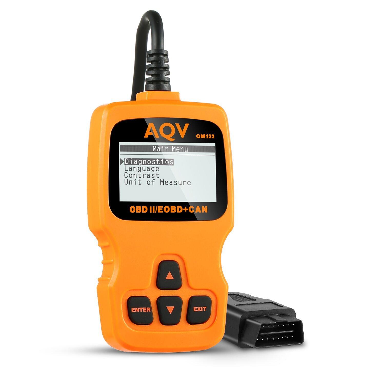 AQV OBD2, Coche Diagnóstico Herramienta OBD Escáner Lector de Código ...