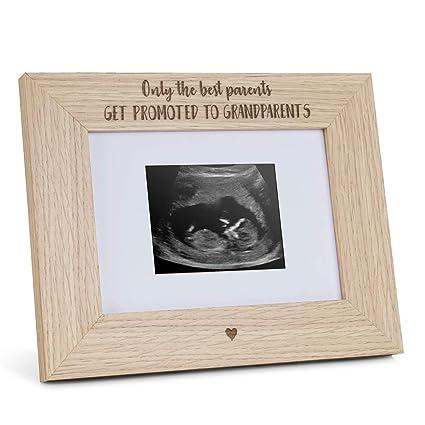 Amazon.com: Marco de fotos grabado de madera para abuelos ...