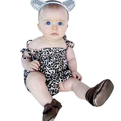 9880c274857d3 Goodlock Newborn Infant Fashion Romper Baby Girls Straps Leopard Romper  Playsuit Clothes Outfits Clothes
