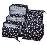 Packing Cubes Travel Organizer,8 - Set Waterproof Mesh Travel Luggage with Laundry Bag