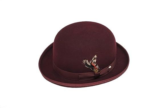 Amazon.com  New Mens 100% Wool Burgundy (Maroon   Dark Red) Derby ... 5db3a2423f5
