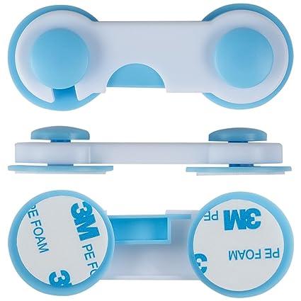 Niño armario de seguridad Locks (10 unidades) - mejor cierres para bebé Proofing cierres para gabinetes, aparador, cajones, horno, asiento de inodoro - 3 M ...