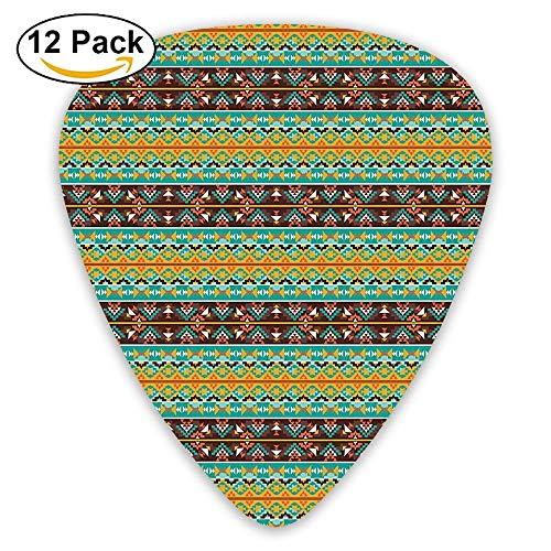 Ethnic Retro Navajo Motif Pattern Guitar Picks 12/Pack Set ()