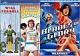 Blades of Glory + Semi-Pro & Elf DVD Will Ferrell Collection Comedy Set 3 Movies
