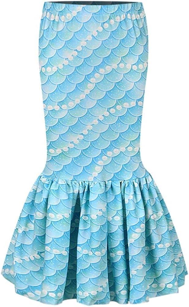 Wennikids Girls 3D Digital Printed Scale Clothing Mermaid Cosplay Clothes