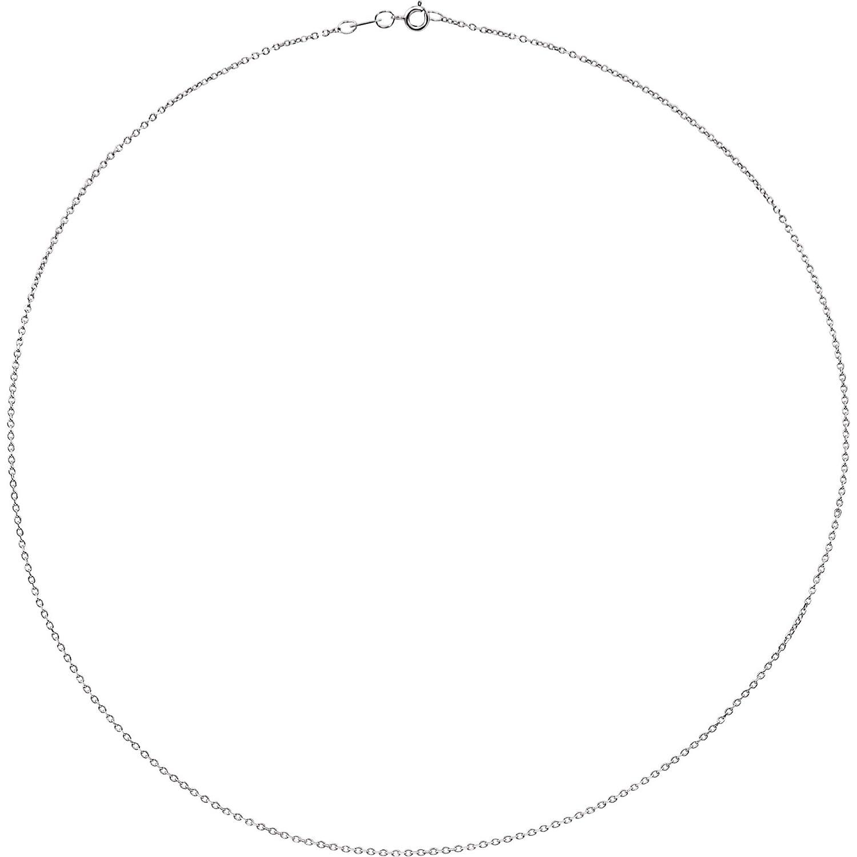 Bonyak Jewelry Sterling Silver 1 mm Diamond Cut Cable 18 Chain