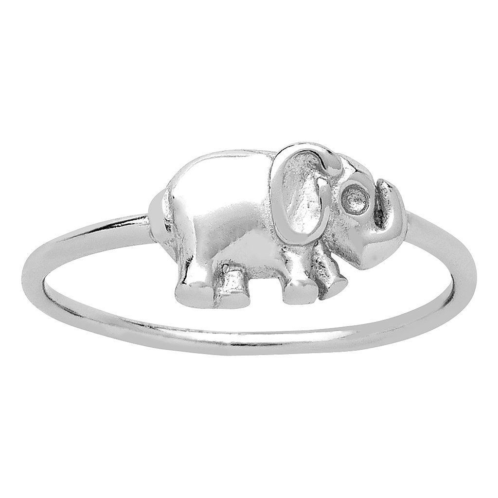 Sterling Forever Elephant Ring For Women, Sterling Silver Elephant Ring, Lucky Ring Size : 6