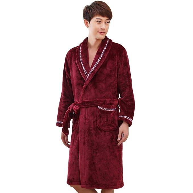Conjunto de pijama de franela de los hombres Largo traje Conjunto de pijama de los hombres