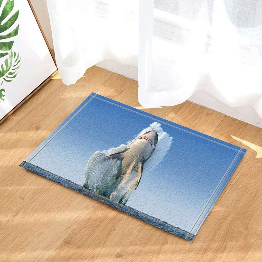 D/écoration animali/ère grande tortue nageant au fond de la mer Tapis de salle de bain tapis de porte anti-glisse entr/ée de sol tapis de porte dentr/ée ext/érieur int/érieur ext/érieur tapis 60X40CM