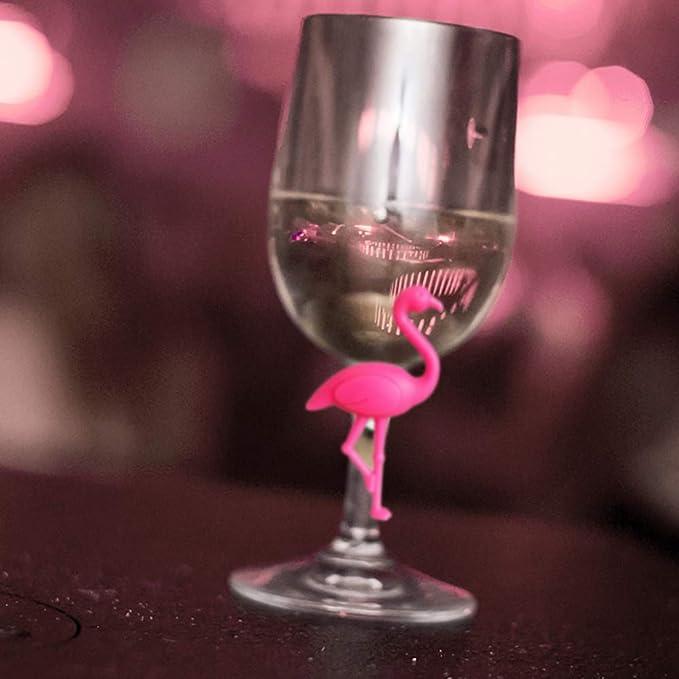 Flamingo-Glasmarker Geburtstagsparty Festival Getr/änkeschild f/ür Bar UPKOCH 6 St/ück Weinglas-Marker aus Silikon Abendessen