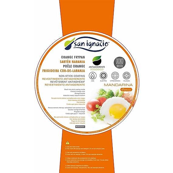 San Ignacio SARTEN 20cm 1.2mm Antiadherente Mandarina, Acero, Naranja, 20 Centimeters: Amazon.es: Hogar