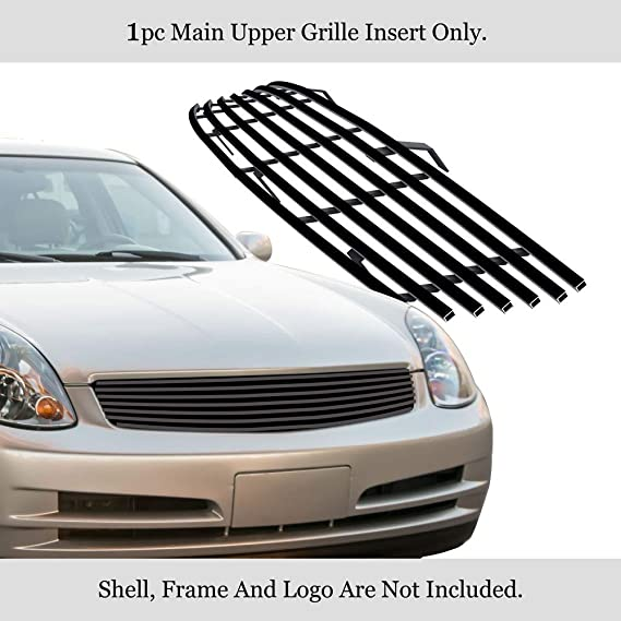 APS Compatible with 2008-2010 Infiniti M35 M45 Billet Grille Grill Insert S18-A75968N