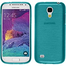Silicone Case for Samsung Galaxy S4 Mini Plus I9195 - brushed blue - Cover PhoneNatic + protective foils