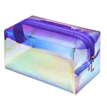 Amazon.com: Bolsa de maquillaje, F-color Holographic Bolsa ...