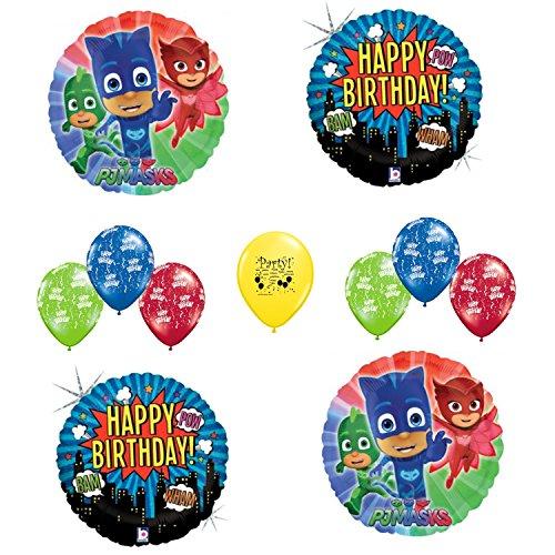 [PJ Mask Happy Birthday Balloon Set] (Disney Junior Pj Masks Costumes)