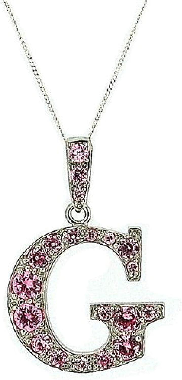 45,7 cm colore: Rosa TOC Collana con ciondolo a forma di lettera G in argento Sterling