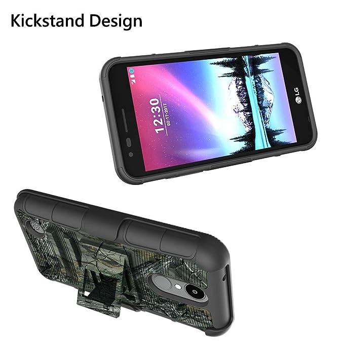 Amazon.com: MELOP - Carcasa híbrida de doble capa para LG K4 ...