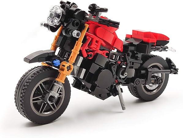 dOvOb Creator Expert Orange Cross-Country Motorcycle Set,Adult Car Model,Building Blocks 209 PCS