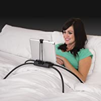 Tablift Tablet Stand for The Bed, Sofa, or Any Uneven Surface - Universal for All Tablets… (Black)