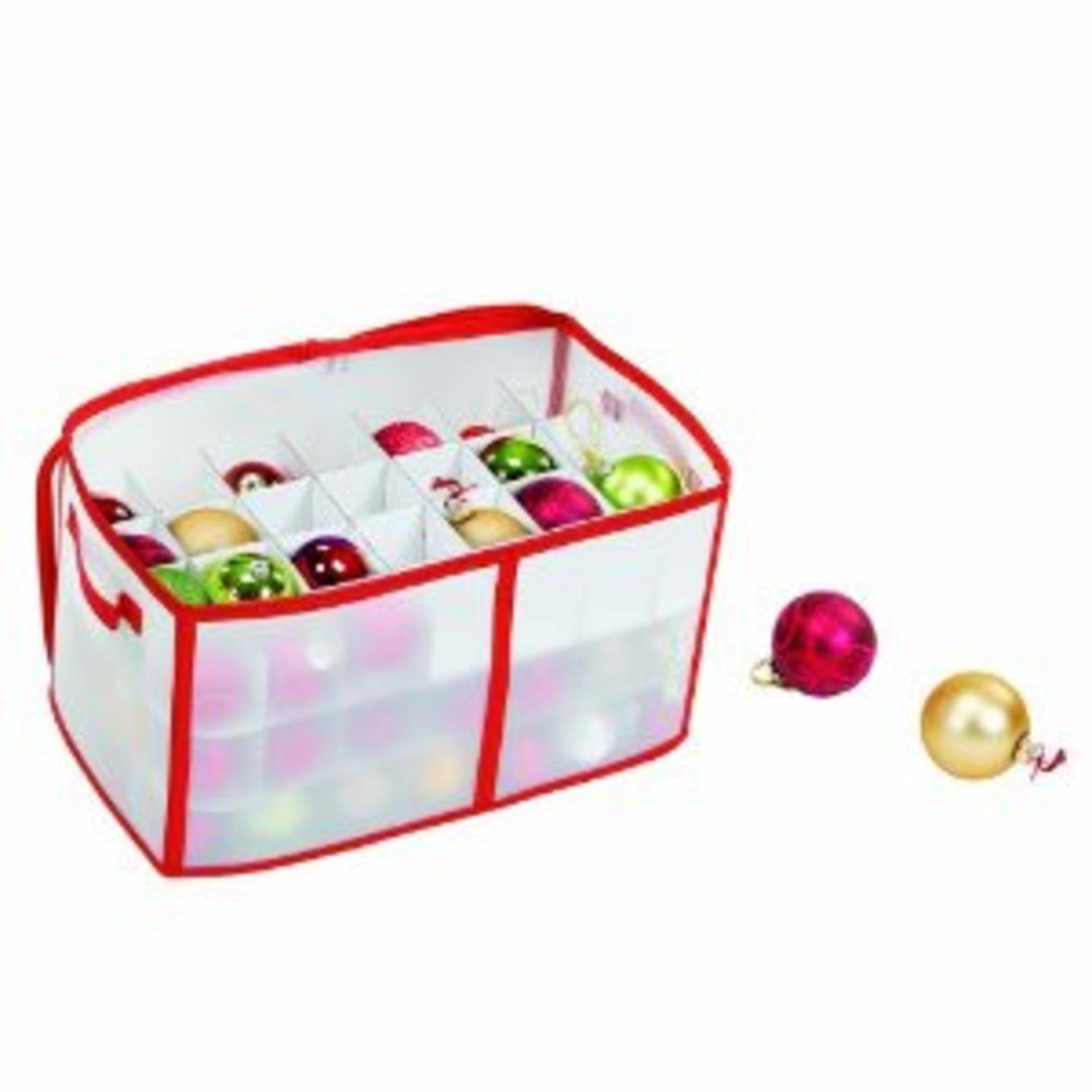 Northlight Zip-Up Christmas Decoration Storage Bag - Holds up to 112 Ornaments