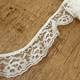 Cream / ivory Gathered Ruched Lace Trim 45mm 2 Wide - sold by the...
