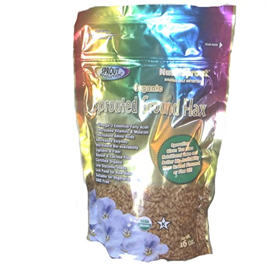 Amazon.com : NutraSprout Organic Sprouted Ground Flax : Grocery & Gourmet Food