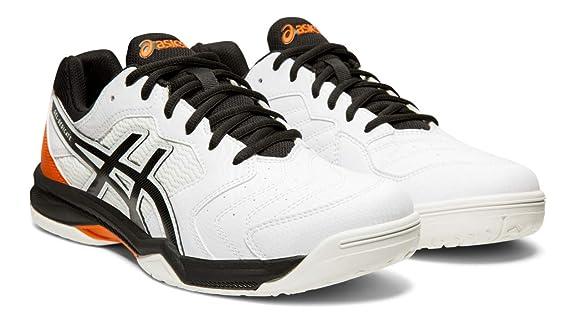 ASICS Gel-Dedicate 6 Men's Tennis Shoes, White/Black, 8.5 M US