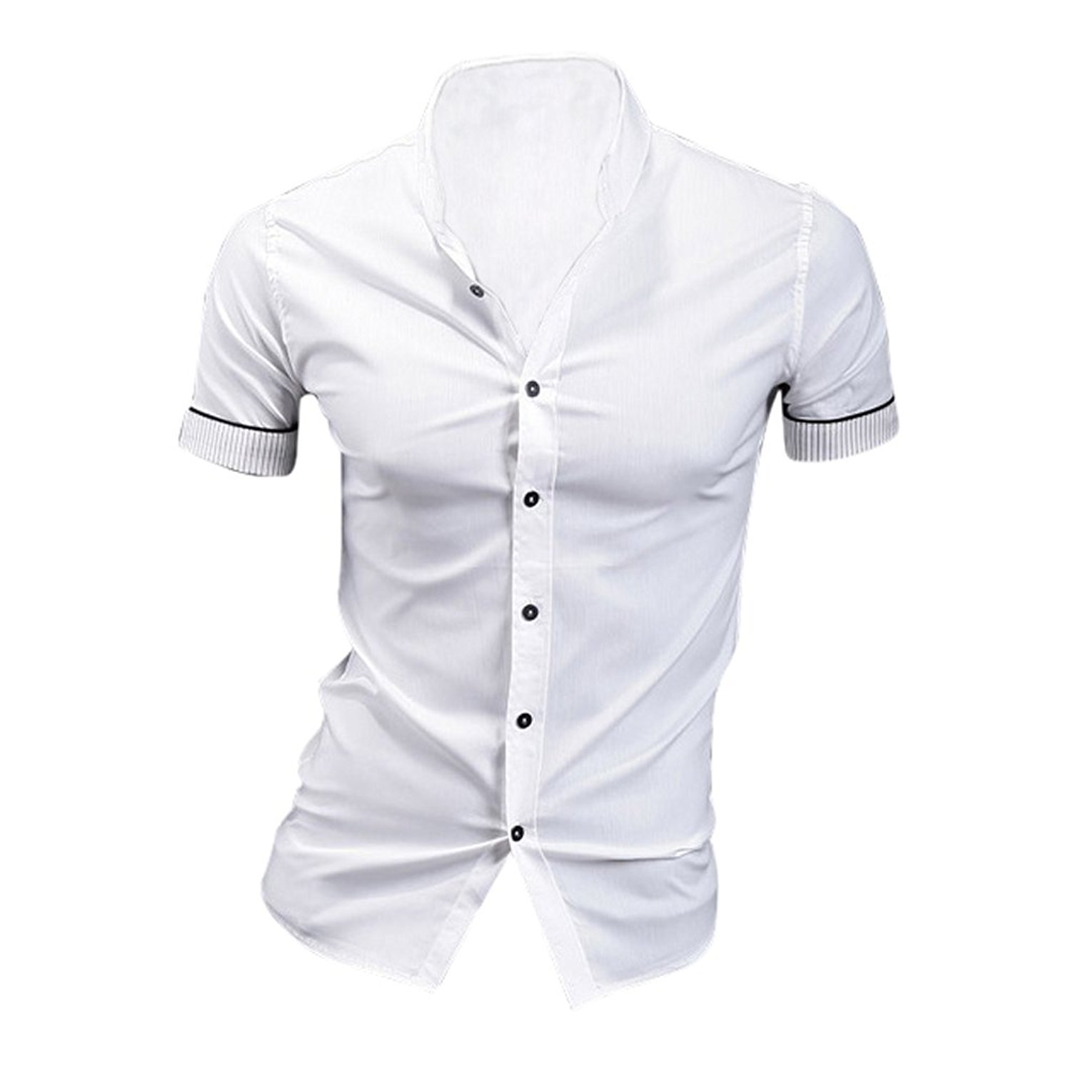Amazon Toogoor White Summer Mens Fashion Dress Shirts Plaid