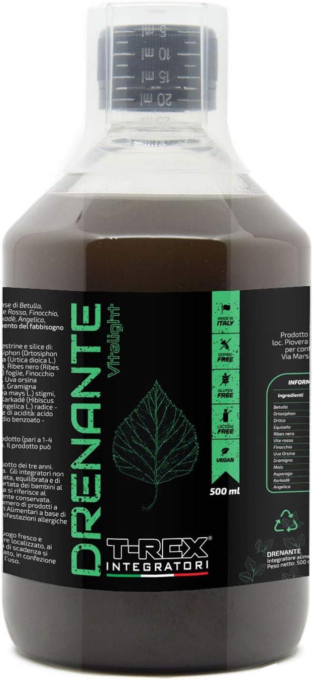 Drenaje natural VITA LIGHT 500ml - Desintoxicación (Detox) - Suplemento Purificante a base de abedul, ortosifón, ortiga verde, cola de caballo, grosella negra, vid roja, hinojo 100% vegetal, vegana