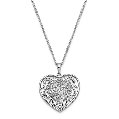 925 Sterling Silver Cubic Zirconia Cz To My Granddaughter 18 Inch Heart Chain Necklace Pendant Charm S love Inspirational Fine Jewelry Gifts For Women For Her