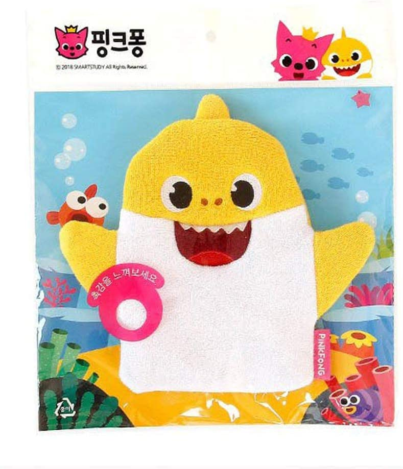 Yellow Duck Shark Cotton Towel Gentle Soft Scrub for Baby Toddler Kids Bath and Shower 2 Pack AMOLEY Baby Bath Mitt Washcloths