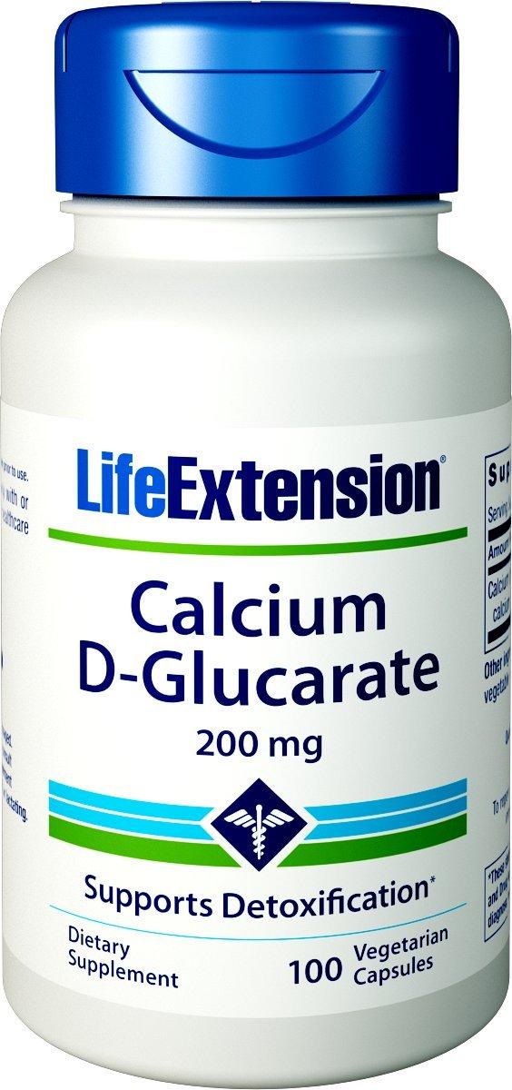 Amazon Com Life Extension Calcium D Glucarate 200 Mg 60 Vegetarian