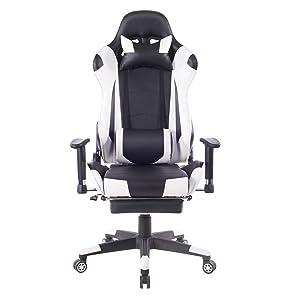 HEALGEN Back Massage Gaming Chair with Footrest