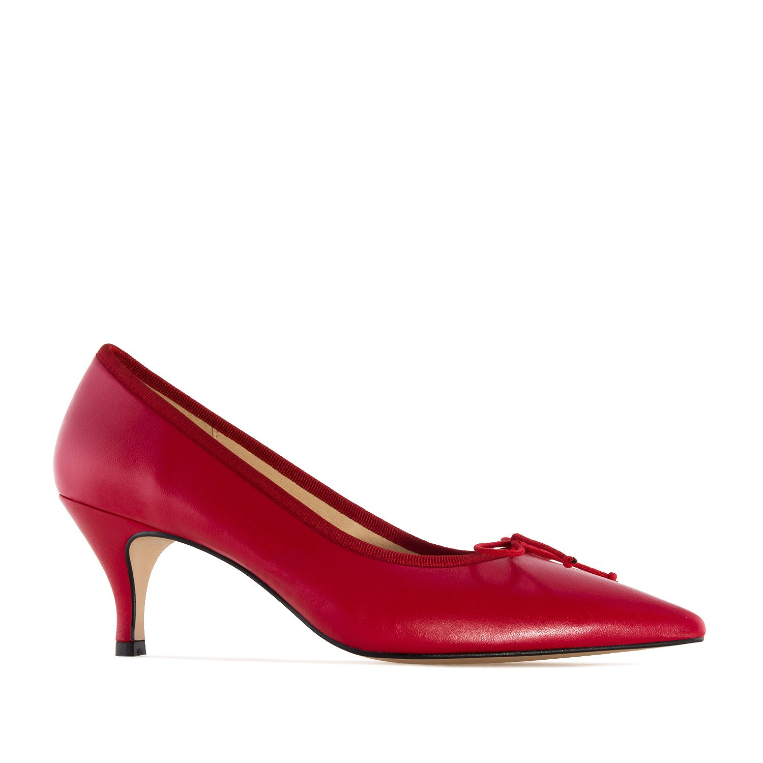 Andres Machado Fine Tip Red Leather Heeled Shoes, 35 M EU/5 B (M) US