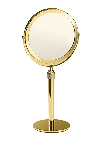 Amazon walther table height adjustable cosmetic makeup 3x walther table height adjustable cosmetic makeup 3x magnifying mirror polished gold watchthetrailerfo