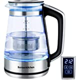 Electric Kettle, Bonsenkitchen Glass Tea Kettle, 1500W Fast Heating Variable Temperature Control Water Boiler, 1.7L…