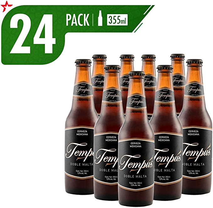 Cerveza Artesanal Tempus Doble Malta 24 Pack Botella 355 Ml