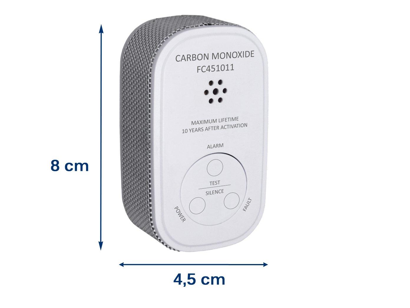 10-Jahres Sensor mit praktischer EASY /& CLEAN Magnetmontage ELRO Kohlenmonoxid-Melder mit 10 Jahres Batterie CO-Melder