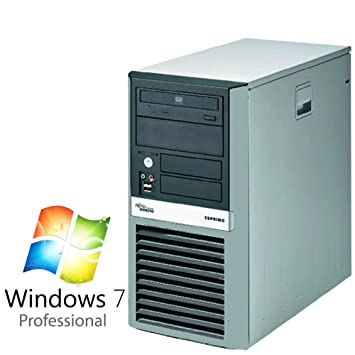 Oficina de ocasión PC ordenador Fujitsu Esprimo P5925 Intel Pentium Dual Core 2 x 2,2 gHz 4 GB DDR2 500 GB S-ATA DVD Windows 7 Professional 64 bit: ...