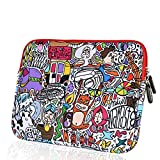 Fashion Colorful Cartoon Graffiti Design Pattern Zipper Sleeve Bag Cover Case Scrawl for ALL Laptop 13