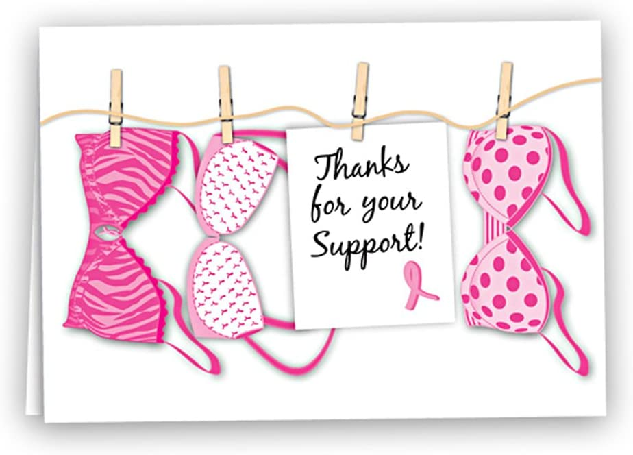 Amazon Com Fundraising For A Cause Breast Cancer Awareness Pink Ribbon Note Cards Breast Cancer Thank You Cards With Envelopes 12 Pack Greeting Cards Office Products