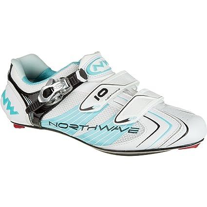 Northwave 80111001-59 - Zapatillas de ciclismo, color blanco / azul claro, talla