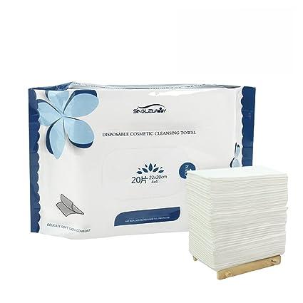 10 – 20 piezas de toalla facial de lavado facial desechable transpirable y de algodón húmedo