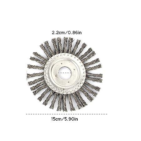 Daxoon Nudo de Hilo de Cepillo de malezas Cepillos de Acero Profesionales rotativos para desbrozadoras