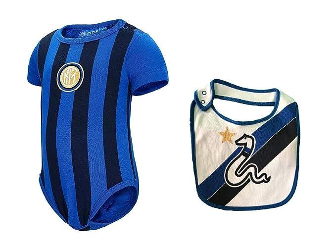b9ba9afc21 arn-etta body inter neonato I002 + bavaglino cotone: Amazon.it:  Abbigliamento
