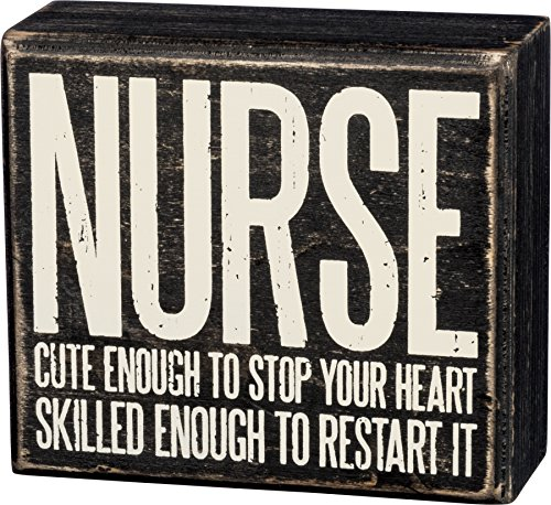 Nurse Cute Enough to Stop Your Heart Wooden Box 4